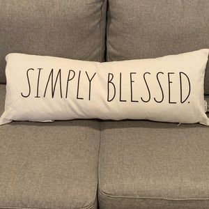 Rae Dunn simply blessed pillow